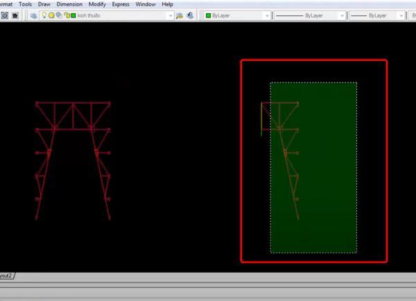 Chọn các đối tượng cần đối xứng => Sau đó ấn Enter.