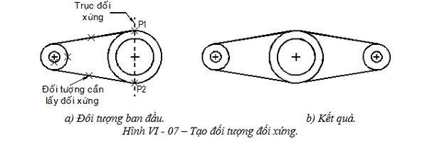 Lệnh đối xứng trong cad